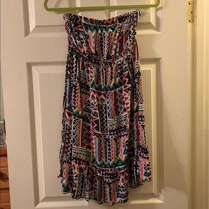 SALE Strapless multicolor dress